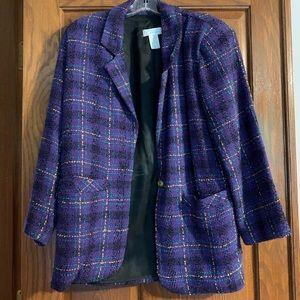 Vintage Wool-Blend Blazer for Women